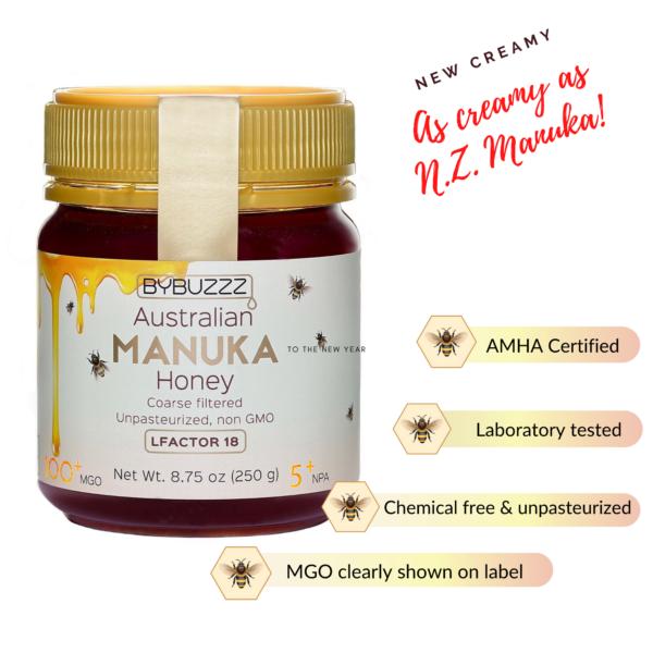 Creamy style manuka honey