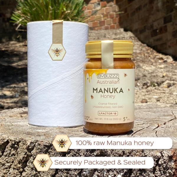 Manuka honey securely packed