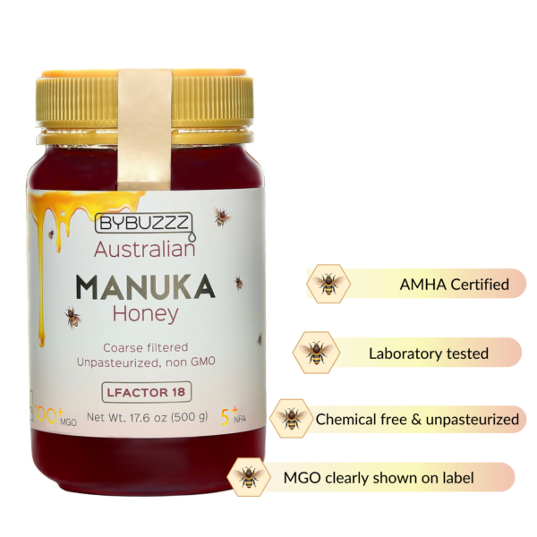 100+ MGO Manuka honey