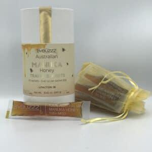 box of manuka honey jumbo sized sachets